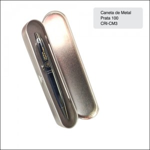 Clube Criciuma_Caneta metal 100 prata - CRI-CM3