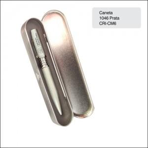 Clube Criciuma_Caneta metal 1046 prata - CRI-CM6