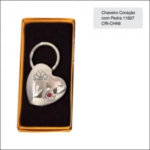 Clube Criciuma_Chaveiro coração com pedra 11627 - CRI-CHA8